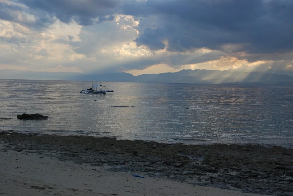 Udsigt fra tehytten i Moalboal, Filippinerne