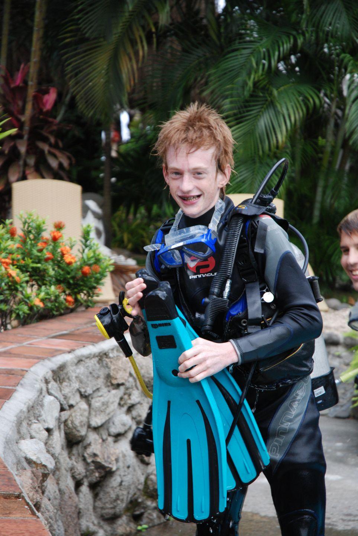 Christoffer er glad og lykkelig efter uddannelses dyk